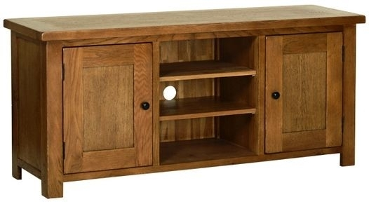 Brilliant Famous Large Oak TV Cabinets Inside Buy Devonshire Rustic Oak Tv Cabinet Large Online Cfs Uk (Image 14 of 50)