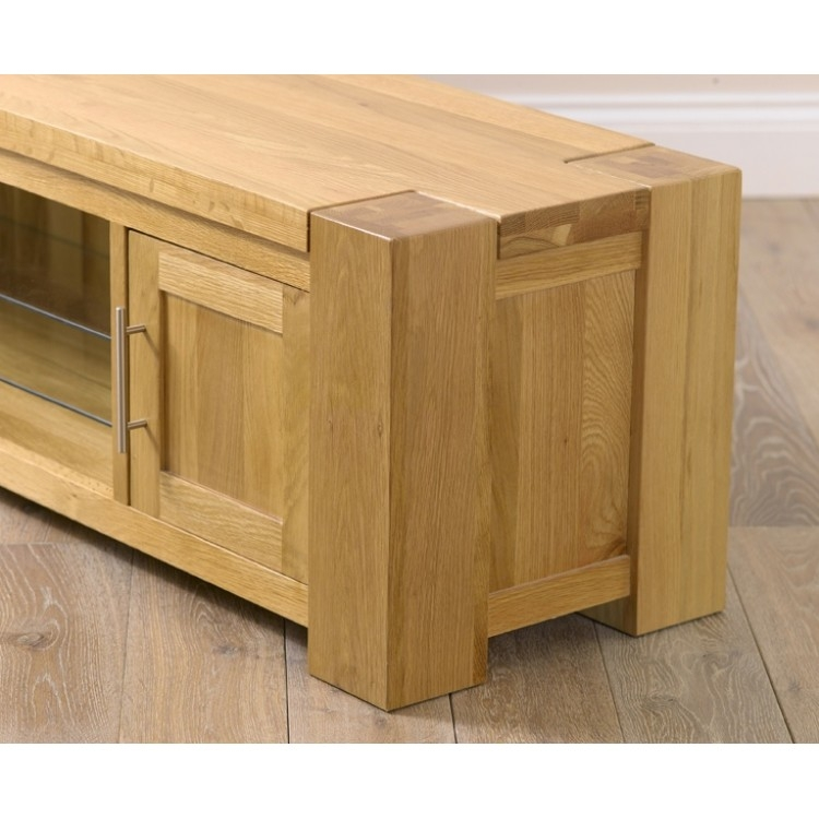Brilliant Famous Large Oak TV Stands Inside Buy Tampa Solid Oak Tv Stand From Oak Furniture House (Image 7 of 50)