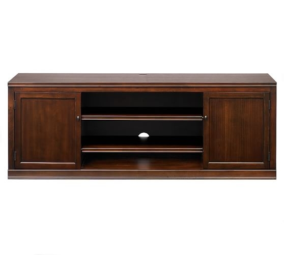Brilliant Famous Large Oak TV Stands Throughout Logan Large Tv Stand Hewn Oak Pottery Barn (Image 8 of 50)