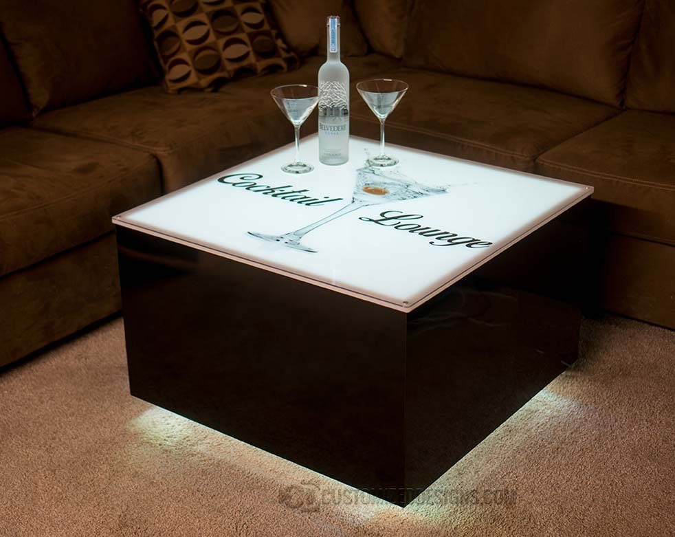 Brilliant Famous Led Coffee Tables Inside Nightclub Bar Furniture Led Lighted Coffee Tables Cubix Series (Image 9 of 50)