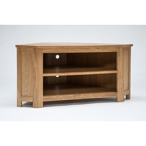 Brilliant Famous Low Corner TV Cabinets Regarding Oak Low Corner Tv Cabinet (Image 8 of 50)