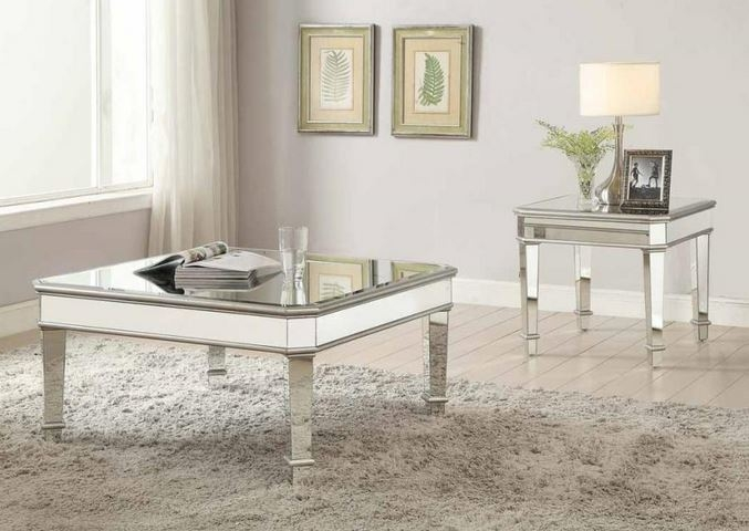 Brilliant Famous Mirrored Coffee Tables Pertaining To Arles Mirrored Coffee Table Collection (Photo 39 of 50)