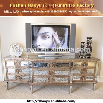 Brilliant Famous Mirrored TV Cabinets Regarding Mirror Tv Showcase Designsivory Antique Tv Cabinet With Showcase (Image 11 of 50)