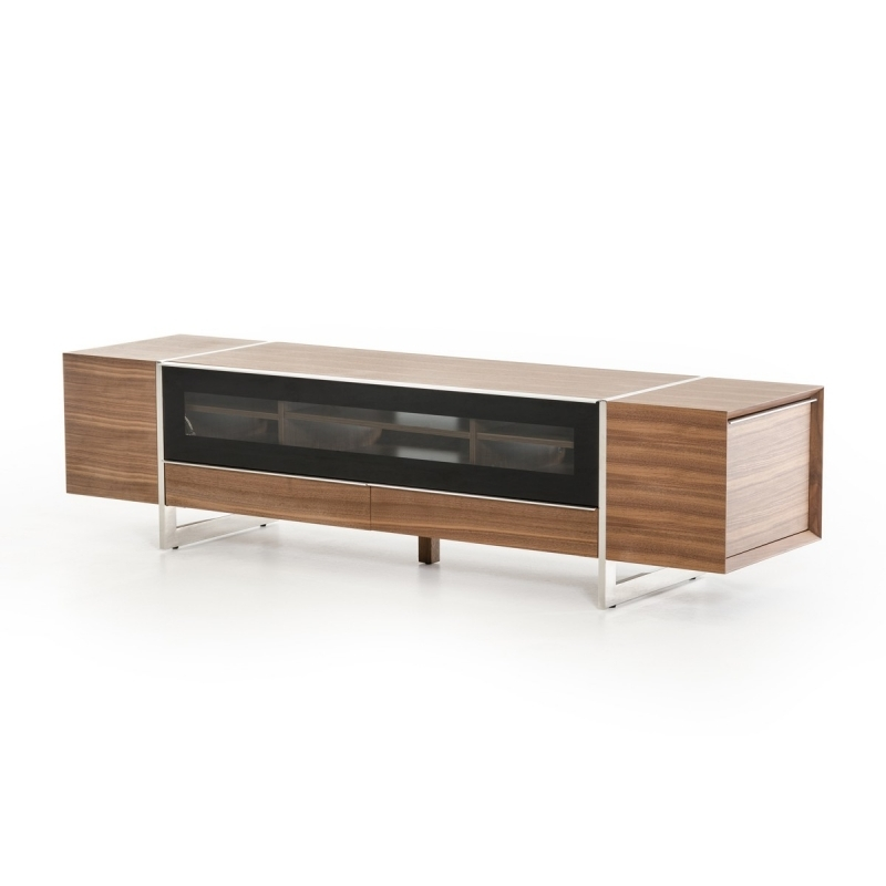 Brilliant Famous Modern Walnut TV Stands For Buy The Modrest Lorena Modern Walnut Tv Stand Vig Furniture (Image 9 of 50)