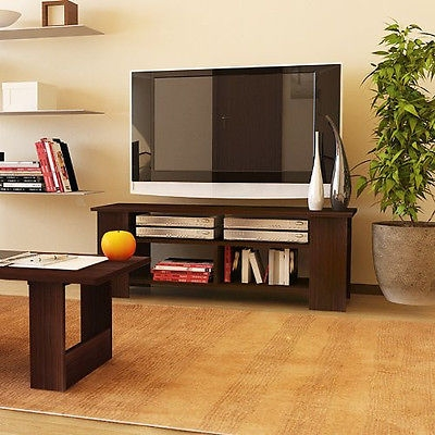 Brilliant Famous Modern Wood TV Stands Regarding Wood Tv Stand Entertainment Center Storage Modern Media Console (View 42 of 50)