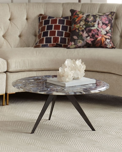 Brilliant Famous Oval Mirrored Coffee Tables Pertaining To Marble Mirrored Coffee Tables At Neiman Marcus Horchow (Photo 20 of 50)