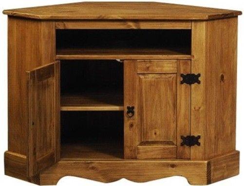 Brilliant Famous Pine Corner TV Stands For Linon 6222sf 01 Kd U Santa Fe Rustic Corner Tvvcr Stand Cabinet (Image 6 of 50)