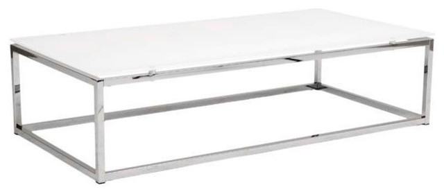 Brilliant Famous Rectangle Glass Chrome Coffee Tables With Rectangular Glass Coffee Table (Image 11 of 50)