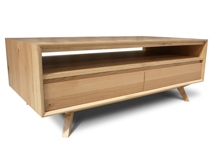 Brilliant Famous Retro Oak Coffee Tables Within Felix Retro Scandinavian Oak Coffee Table Living Elements (Image 12 of 50)