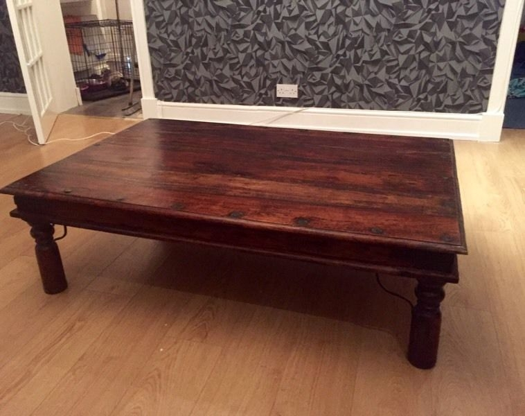 Brilliant Famous Sheesham Coffee Tables With Regard To Large Sheesham Coffee Table In Leven Fife Gumtree (View 5 of 50)