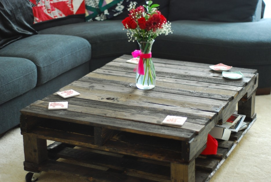 Brilliant Famous Square Shaped Coffee Tables Pertaining To Square Charcoal Wooden Coffee Table With Wheels Combined L Shaped (Image 8 of 50)