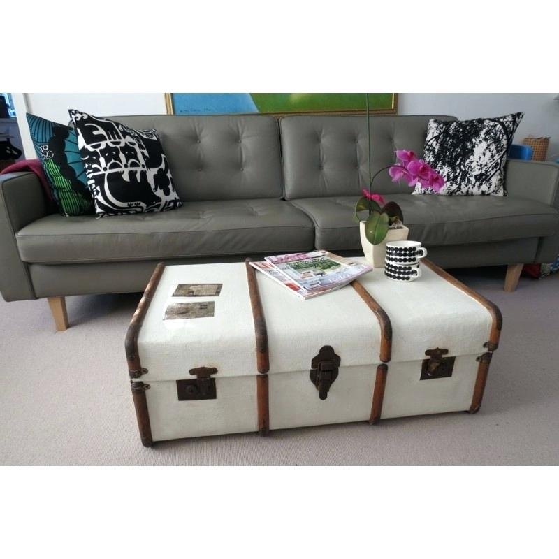 Brilliant Famous Steamer Trunk Stainless Steel Coffee Tables With Steamer Trunk Coffee Table Uk Tag Steamer Trunks As Coffee Tables (Image 9 of 50)