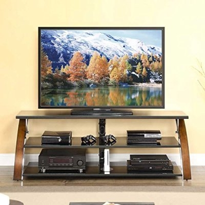 Brilliant Famous Wood TV Stands With Glass Top With Regard To Tvstands Top 7 Most Popular 55 Inch Glass Tv Stands Tv Stands (Image 12 of 50)