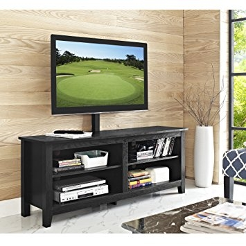 Brilliant Famous Wood TV Stands With Regard To Amazon We Furniture 58 Wood Tv Stand Console With Mount (Image 13 of 50)