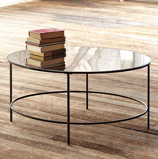 Brilliant Fashionable Antique Mirrored Coffee Tables Pertaining To Mirrored Coffee Table Round (Image 8 of 40)