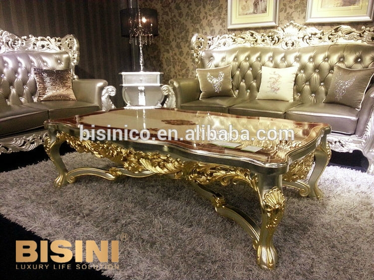 Brilliant Fashionable Baroque Coffee Tables Pertaining To Luxurious Gold Coffee Table (Image 8 of 50)