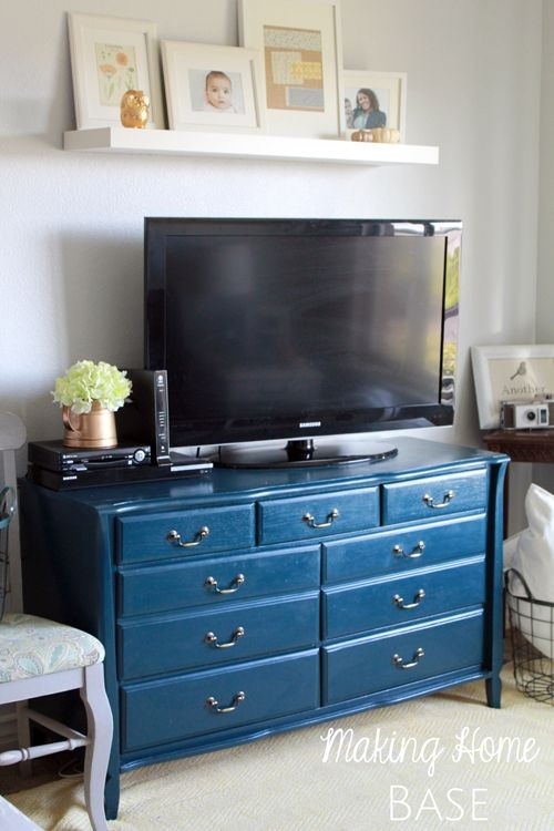 Brilliant Fashionable Blue TV Stands Throughout 13 Best Tv Stands Images On Pinterest (View 49 of 50)