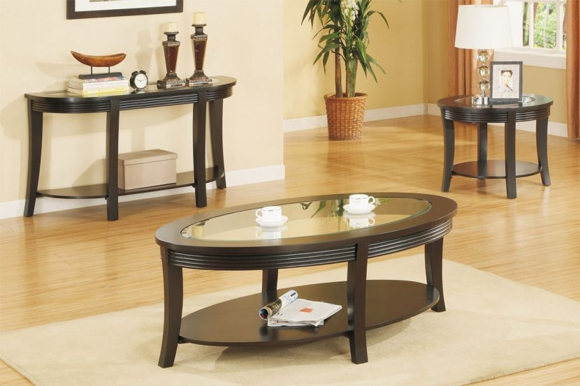Brilliant Fashionable Coffee Table With Matching End Tables Intended For Oval Coffee Table Set Matching Console And End Tables Glass Sets (Image 16 of 50)