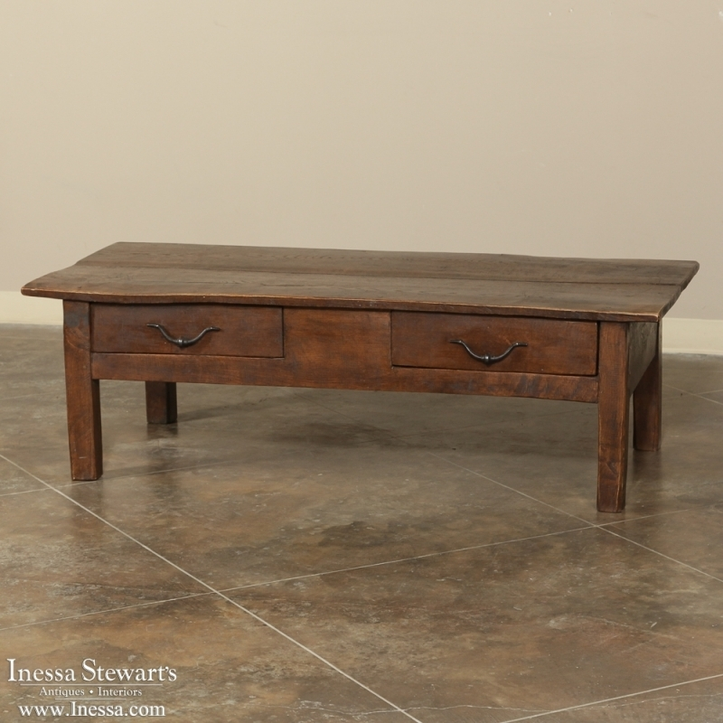 Brilliant Fashionable Country French Coffee Tables With 19th Century Rustic Country French Coffee Table Inessa Stewarts (Image 6 of 50)