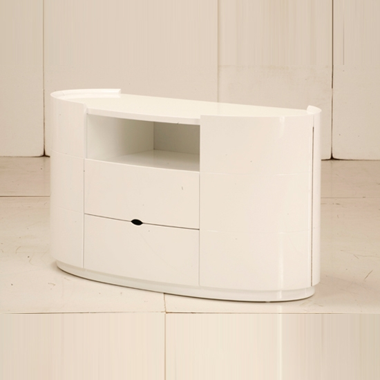 Brilliant Fashionable Cream Gloss TV Stands Inside Laura Tv Stands For Bedroom In High Gloss White (View 13 of 50)