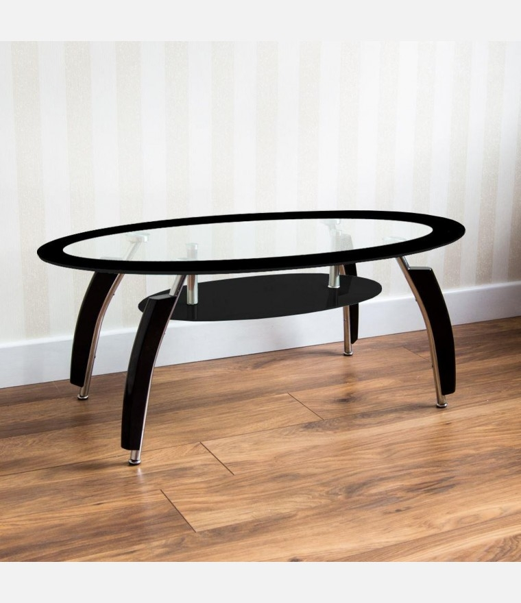 Brilliant Fashionable Elena Coffee Tables With Home Discount Home Discount Elena Coffee Table Black And Clear (Image 12 of 40)