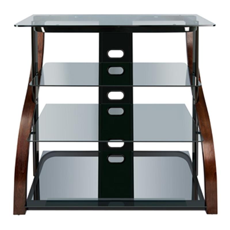 Brilliant Fashionable Expresso TV Stands Inside Bello 40 4 Shelf Tv Stand Espresso Pcrichard Cw (Image 11 of 50)