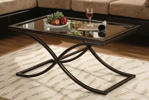Brilliant Fashionable Glass And Metal Coffee Tables With Glass Metal Coffee Table (Image 15 of 50)