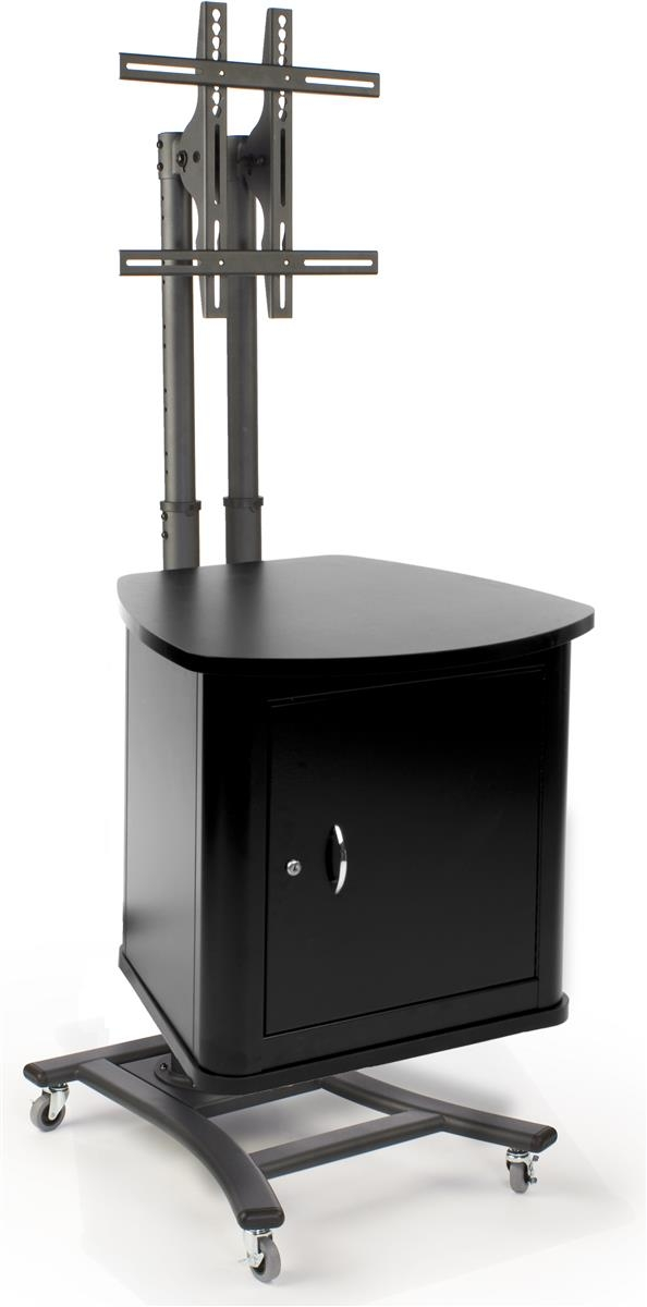 Brilliant Fashionable Lockable TV Stands Throughout Tv Stand With Security Cabinet Adjustable Mount And Locking Storage (Image 11 of 50)