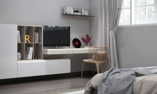 Brilliant Fashionable Modular TV Cabinets With 55 Cool Entertainment Wall Units For Bedroom (Image 10 of 50)