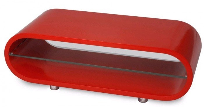 Brilliant Fashionable Red Gloss TV Stands Within Techlink Ovid Ov95r Gloss Red Tv Stand  (Image 9 of 50)
