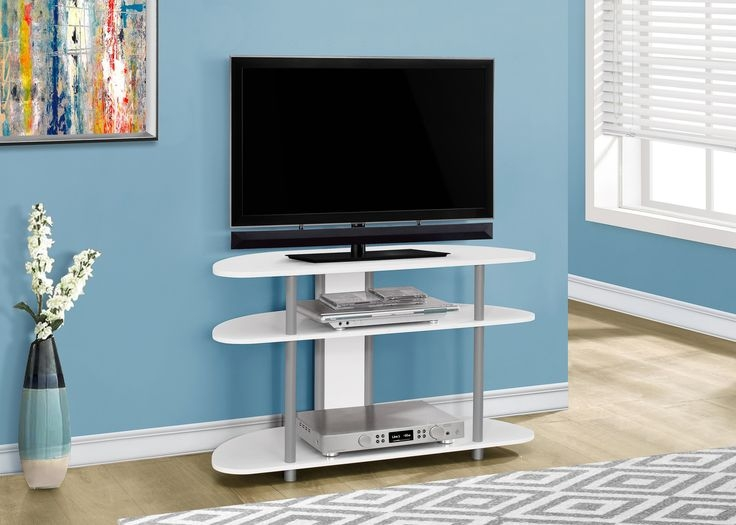 Brilliant Fashionable Silver Corner TV Stands In Best 25 Tv Stands Images On Pinterest Design (Image 13 of 50)