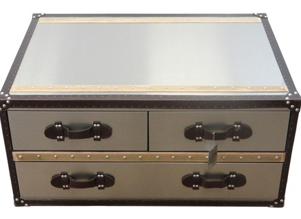 Brilliant Fashionable Steamer Trunk Stainless Steel Coffee Tables Regarding Coffee Table Coffee Table Steamer Trunk Stainless Steel Tree (View 8 of 50)