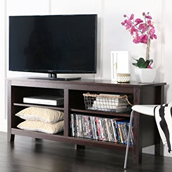 Brilliant Fashionable Storage TV Stands Throughout Amazon We Furniture 58 Wood Tv Stand Storage Console (Image 9 of 50)