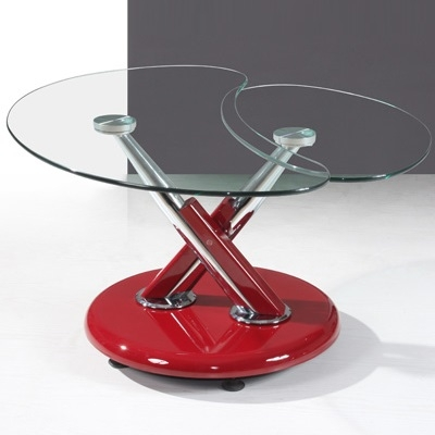 Brilliant Fashionable Torino Coffee Tables Regarding Torino Red And Black Glass Coffee Table Robson Furniture (Image 10 of 40)
