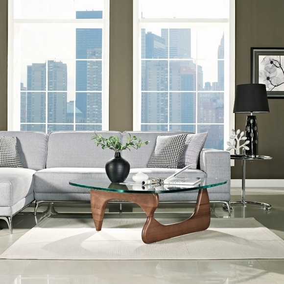 Brilliant Fashionable Tribeca Coffee Tables Within Tribeca Coffee Table Walnut (Image 7 of 50)