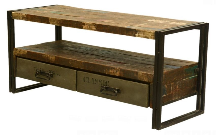 Brilliant Fashionable TV Stands With Drawers And Shelves In Furniture Interesting Reclaimed Wood Tv Stand For Home Furniture (Image 10 of 50)
