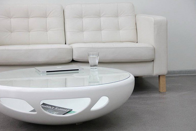 Brilliant Fashionable White And Glass Coffee Tables Pertaining To Black And White Coffee Table (Image 11 of 40)