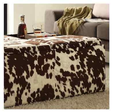 Brilliant Favorite Animal Print Ottoman Coffee Tables With Animal Print Ottoman Fabric Storage Coffee Table Foot Rest Living (Image 11 of 50)