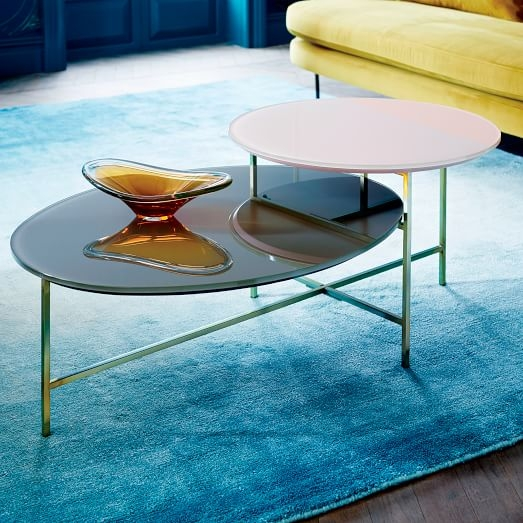 Brilliant Favorite C Coffee Tables For Glass Geo Stepped Coffee Table West Elm (Image 10 of 50)
