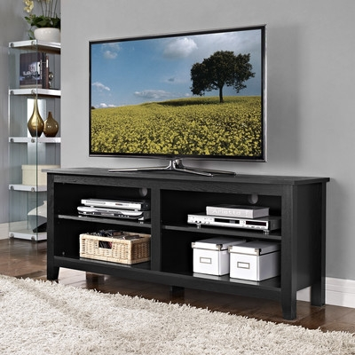 Brilliant Favorite Cheap Tall TV Stands For Flat Screens Throughout Beachcrest Home Sunbury 58 Tv Stand With Optional Fireplace (Image 12 of 50)