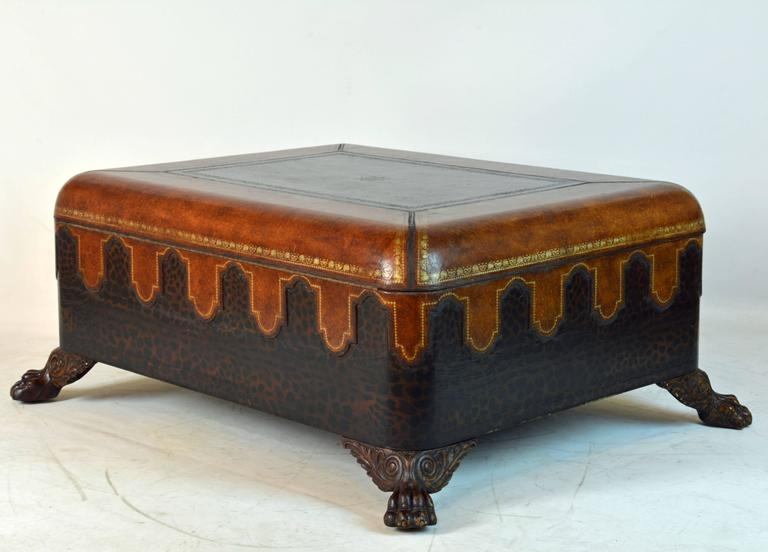 Brilliant Favorite Colonial Coffee Tables With Vintage Maitland Smith Colonial Style Leather Covered Trunk And (Image 7 of 50)