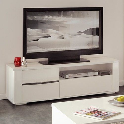 Brilliant Favorite Cream Gloss TV Stands Regarding Best 25 White Tv Stands Ideas On Pinterest Tv Stand Furniture (View 24 of 50)