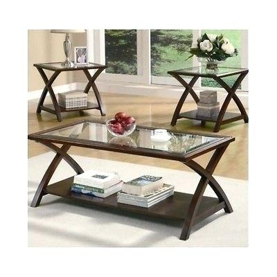 Brilliant Favorite Dark Wood Coffee Tables With Glass Top Intended For Glass And Wood End Tables Blackbeardesignco (Image 11 of 50)