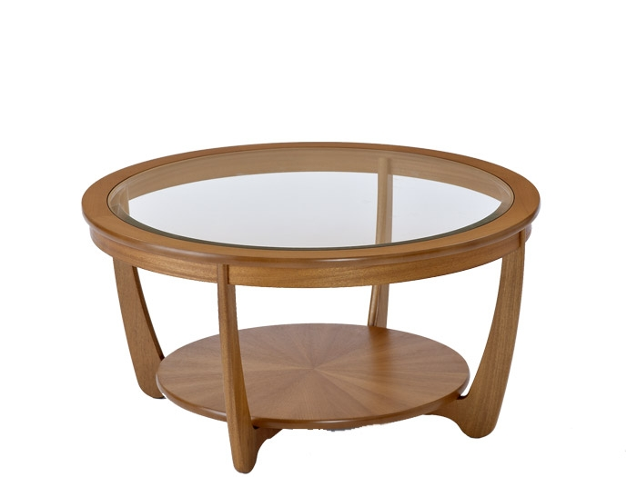 Brilliant Favorite Glass Circle Coffee Tables Intended For Coffee Table Shades Glass Top Round Coffee Table In Teak Round (Image 10 of 50)
