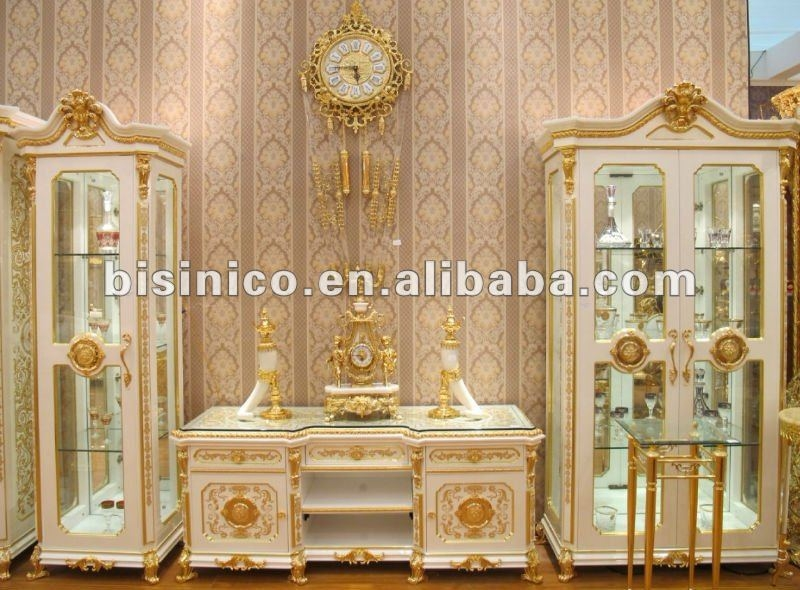 Brilliant Favorite Gold TV Cabinets With New Item White Gold Colour Luxury Gold Plated European Style (Image 10 of 50)