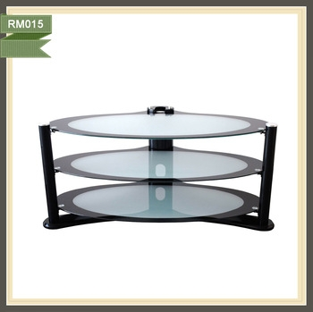 Brilliant Favorite Oval Glass TV Stands Inside New Style Oval Glass Tv Stand Wall Mounted Tv Showcase Rm015 Buy (Image 8 of 50)