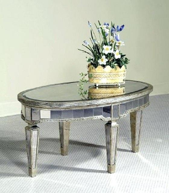 Brilliant Favorite Oval Mirrored Coffee Tables Within Coffee Table Mirror Glass Coffee Tableround Mirrored Table Round (Image 10 of 50)