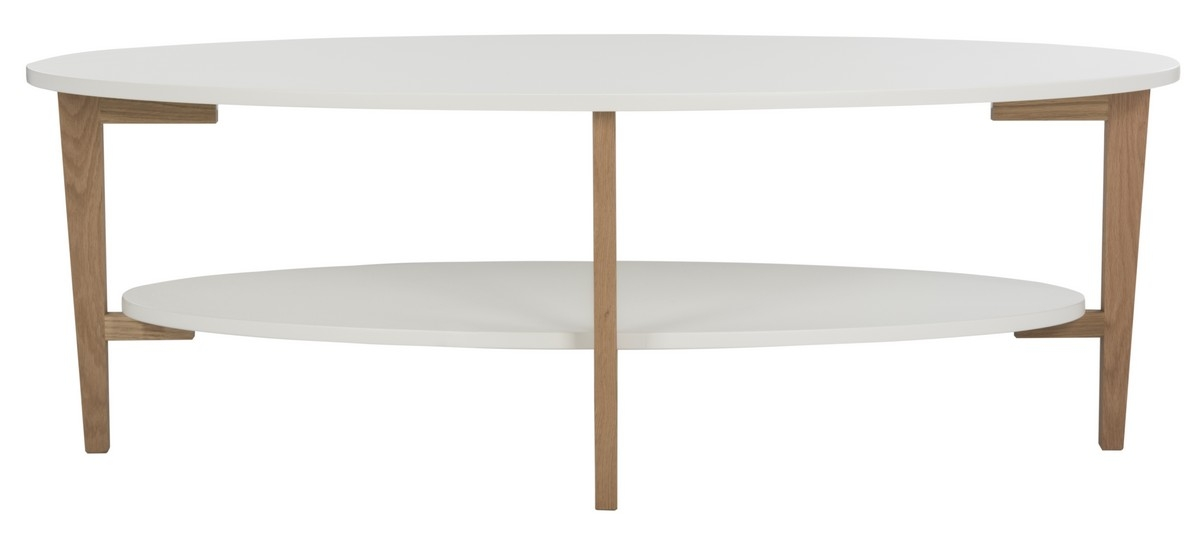 Brilliant Favorite Oval White Coffee Tables With Fox8201a Coffee Tables Furniture Safavieh (Image 10 of 50)