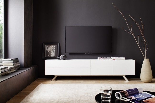 Brilliant Favorite Scandinavian TV Stands Regarding Rife Stylish Tv Stand In White With Metal Legs Funiquecouk (Image 9 of 50)