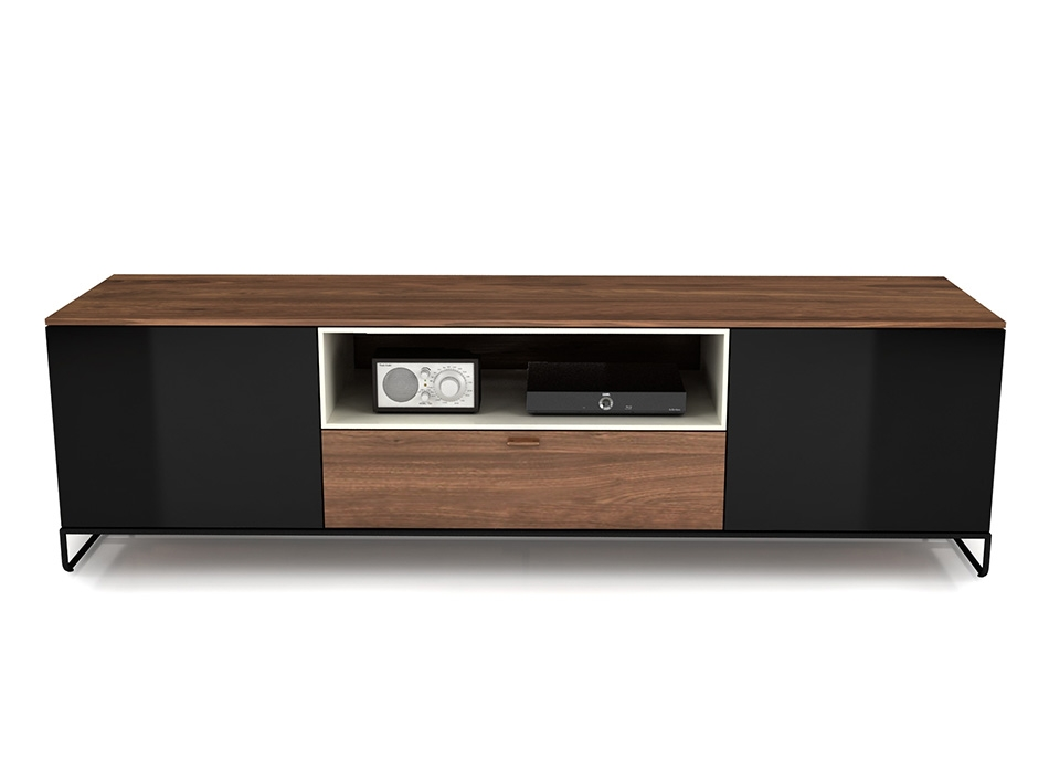 Brilliant Favorite Smoked Glass TV Stands Regarding Huppe Linea Modern Tv Stand (Image 9 of 50)
